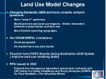 land use model changes