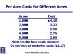 per acre costs for different acres16