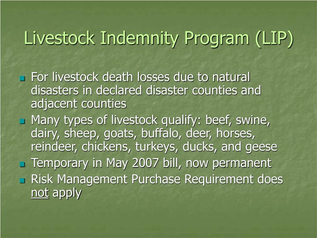 Livestock Indemnity Program (LIP)
