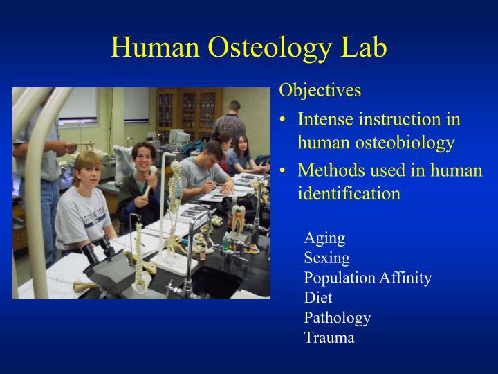 Human Osteology Lab