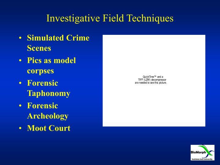 Investigative Field Techniques