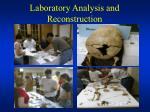 laboratory analysis and reconstruction