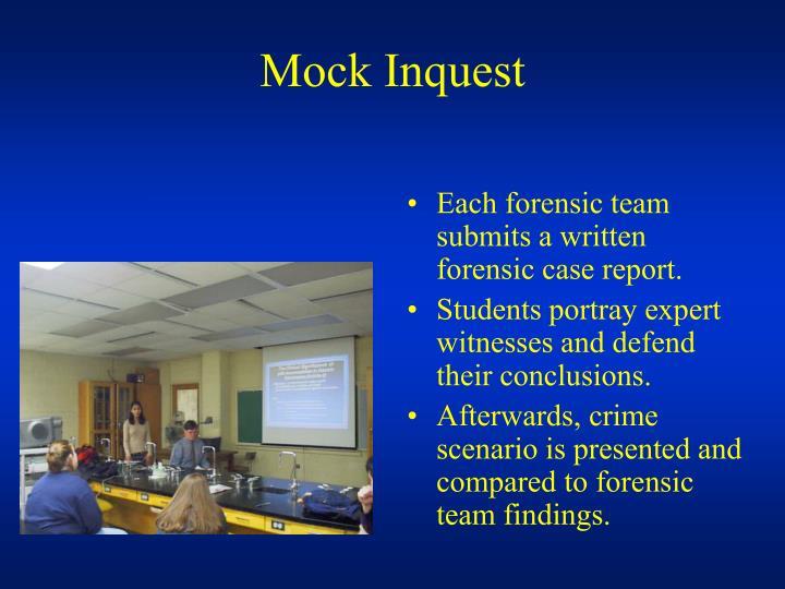 mock forensic team presentation