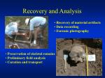 recovery and analysis