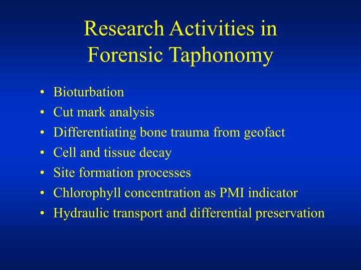 Research Activities in