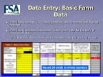 data entry basic farm data9