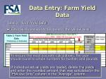 data entry farm yield data11