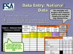 data entry national data