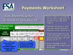 payments worksheet17