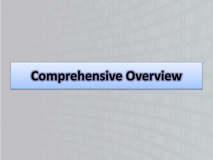Comprehensive Overview