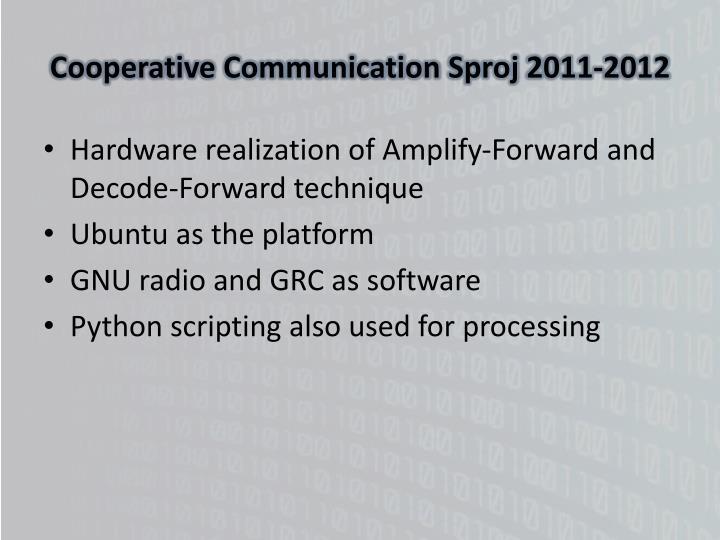 Cooperative Communication