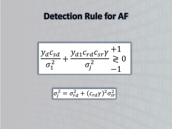 Detection Rule for AF