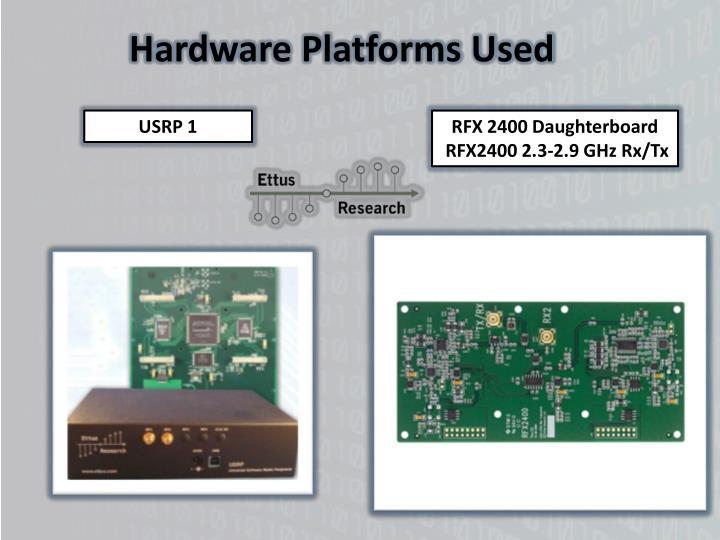 Hardware Platforms Used
