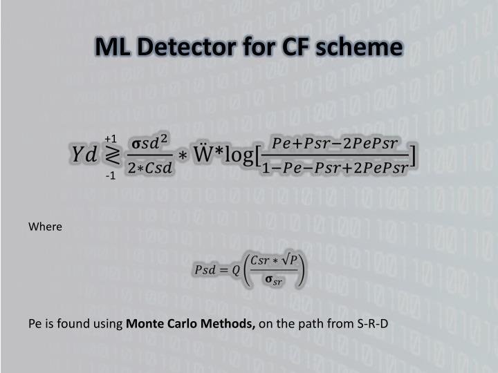 ML Detector for CF scheme