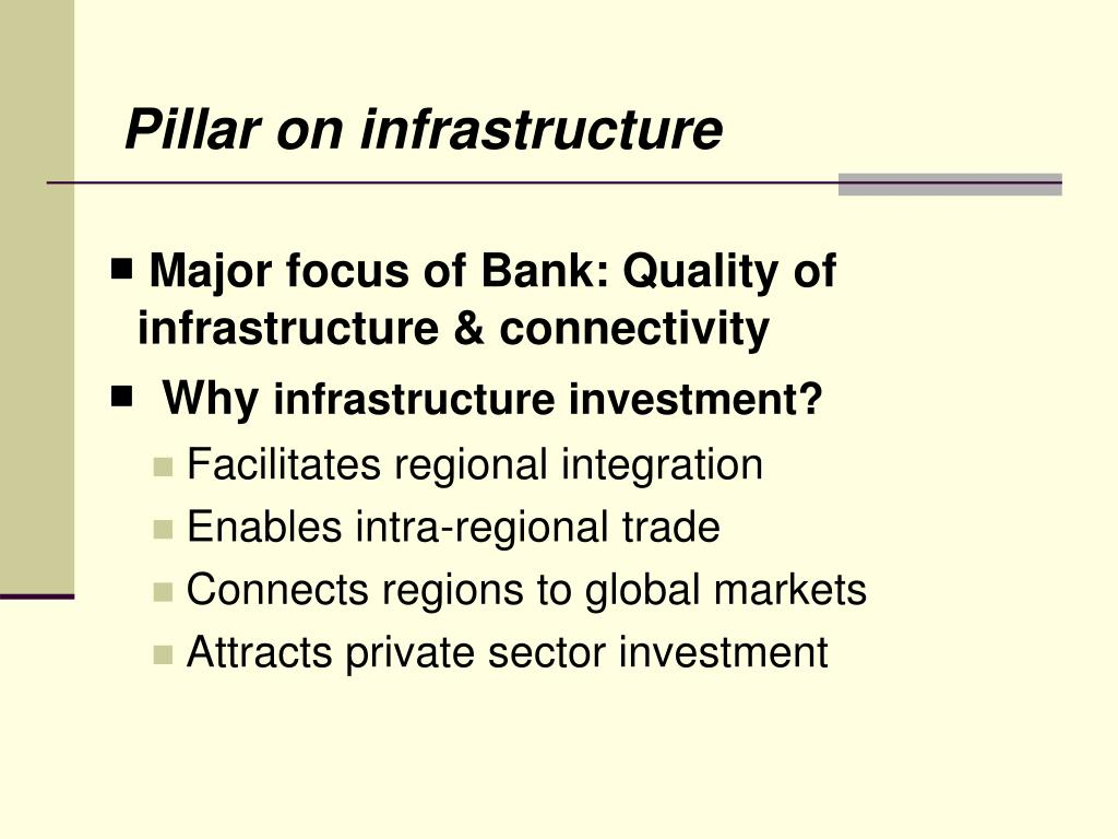 Pillar on infrastructure