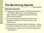 the monitoring agenda