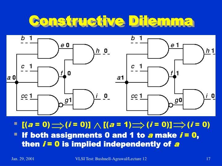Constructive Dilemma