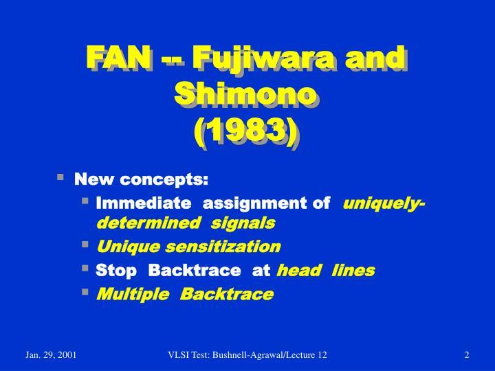 Fan fujiwara and shimono 1983