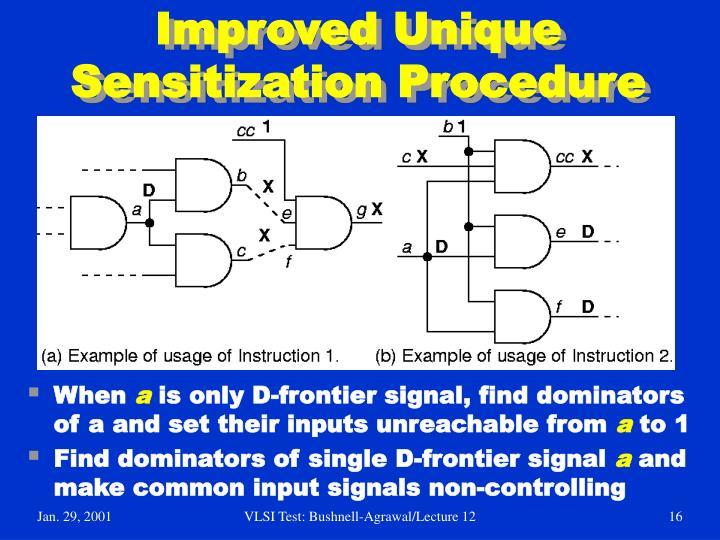 Improved Unique Sensitization Procedure
