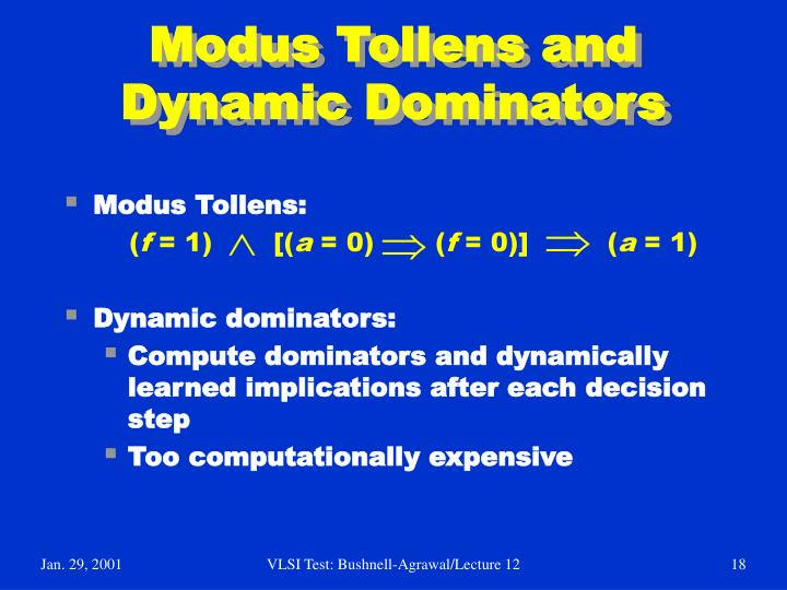 Modus Tollens and Dynamic Dominators