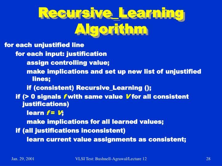 Recursive_Learning Algorithm