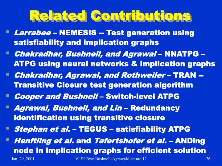 Related Contributions