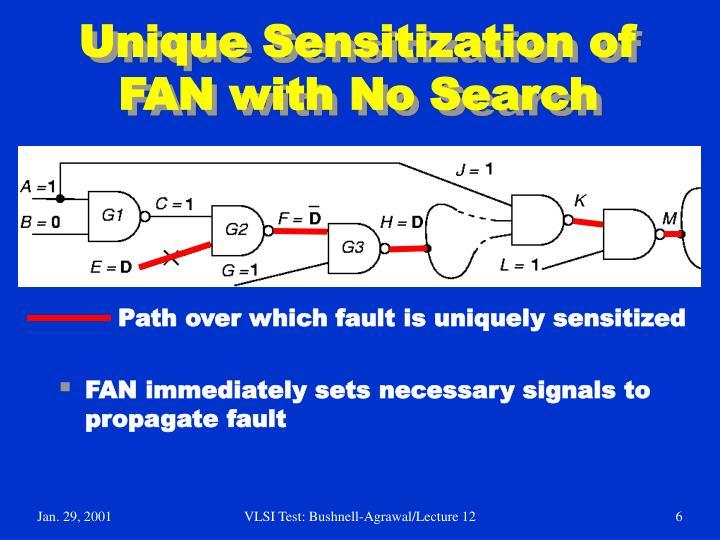 Unique Sensitization of  FAN with No Search