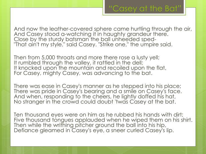 """Casey at the Bat"""