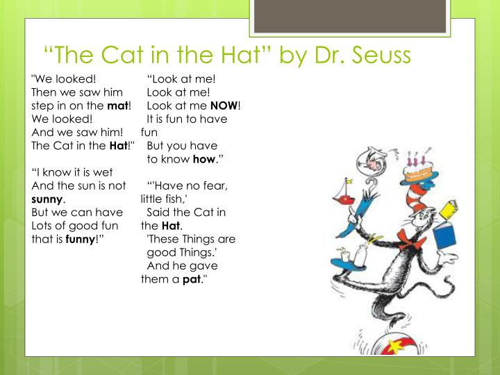 """""""The Cat in the Hat"""" by Dr. Seuss"""