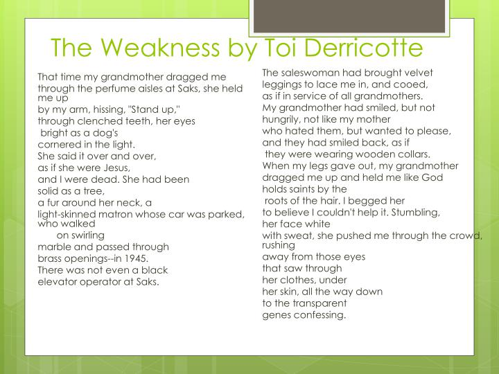 The Weakness by