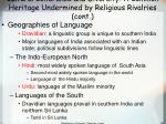 cultural coherence and diversity a common heritage undermined by religious rivalries cont58