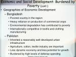 economic and social development burdened by poverty cont