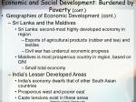 economic and social development burdened by poverty cont74
