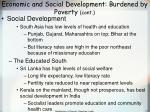 economic and social development burdened by poverty cont77