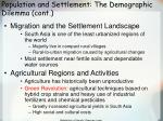 population and settlement the demographic dilemma cont