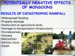 potentially negative effects of monsoons