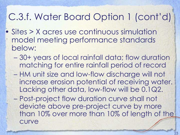 C.3.f. Water Board Option 1 (cont'd)