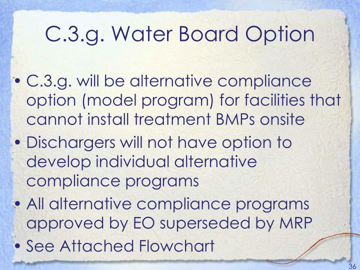 C.3.g. Water Board Option