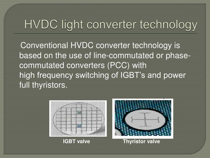 HVDC light converter technology
