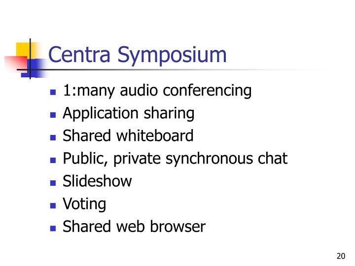 Centra Symposium