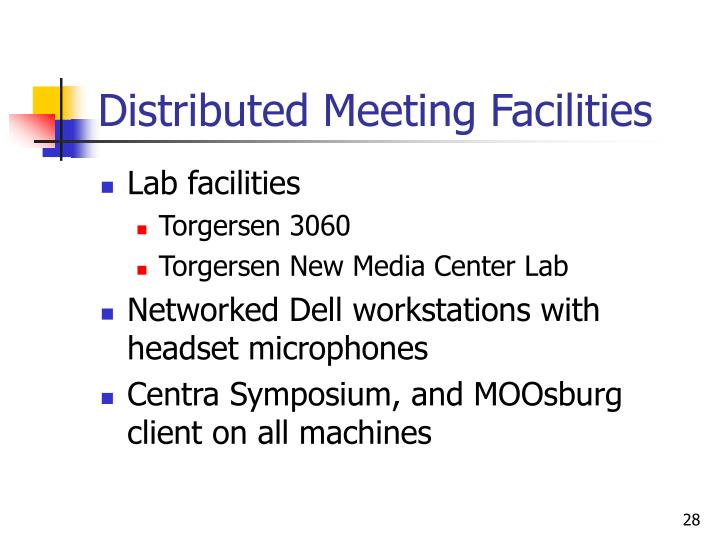 Distributed Meeting Facilities