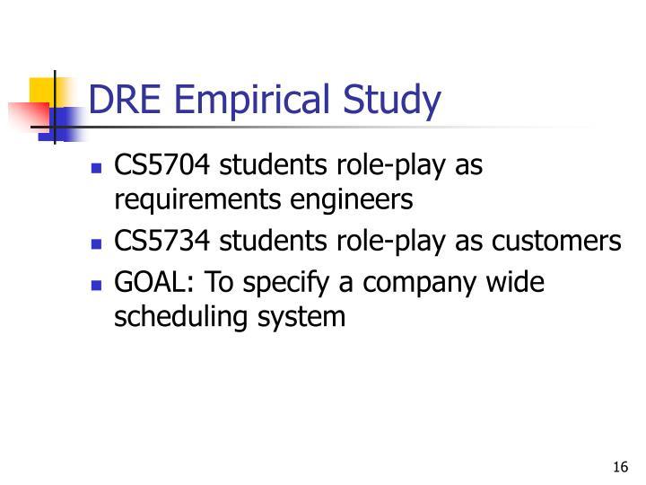 DRE Empirical Study