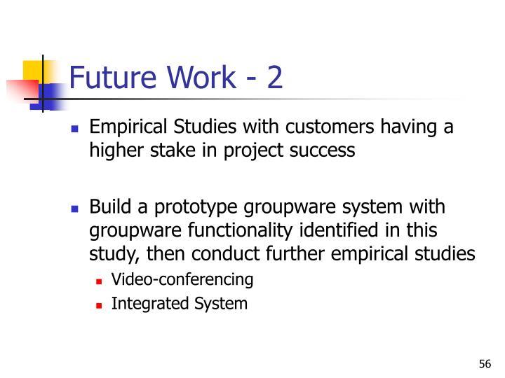 Future Work - 2