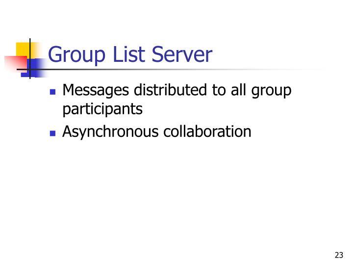 Group List Server