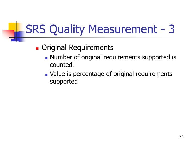 SRS Quality Measurement - 3