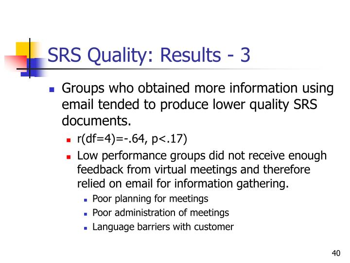 SRS Quality: Results - 3