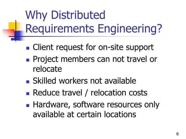 Why Distributed