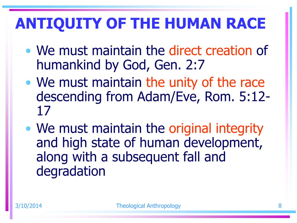 ANTIQUITY OF THE HUMAN RACE