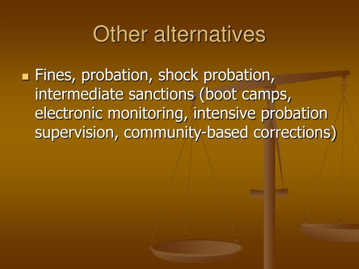 cjs 230 intermediate sanctions and community corrections Intermediate sanctions are criminal sentences intermediate sanctions serve a dual purpose in the criminal justice system y supervision in the community.