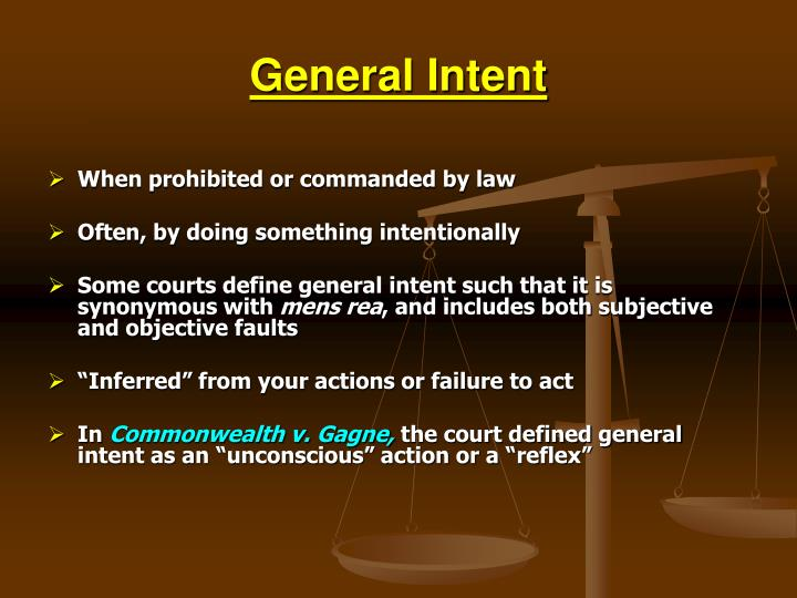 General Intent